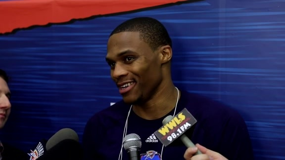 Westbrook After Scrimmage