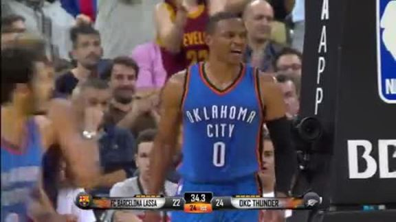 Highlights: Russell Westbrook (12 points) at FC Barcelona