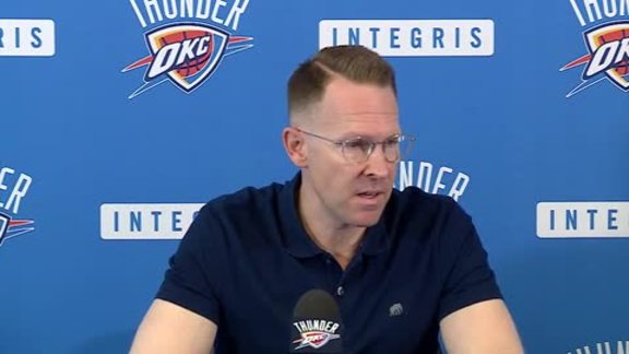 Presti on Entering the Thunder's 10th Season