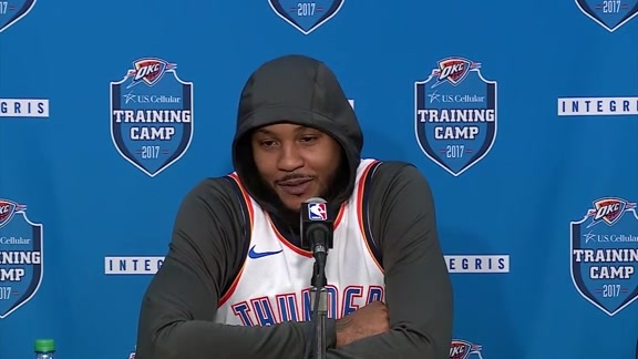2017 Media Day: Carmelo Anthony