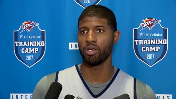 Camp Talk: Paul George - 10/18