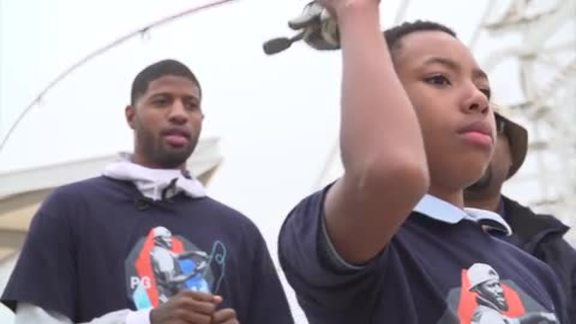 Paul George Goes Fishing With OKC Youth