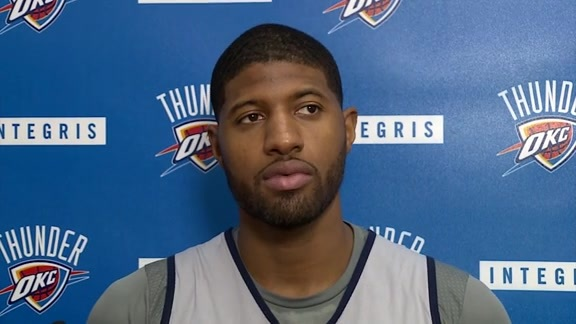 Thunder Talk: Paul George - 11/14
