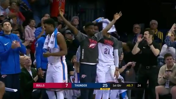 Highlights: Thunder vs. Bulls - 11/15/2017