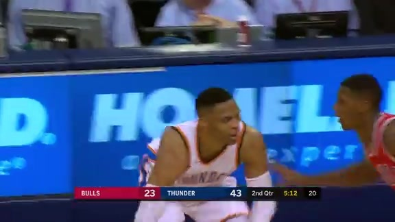 Highlights: Russell Westbrook vs. Bulls