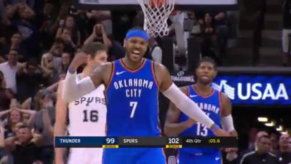 Highlights: Carmelo Anthony (20 points) at Spurs