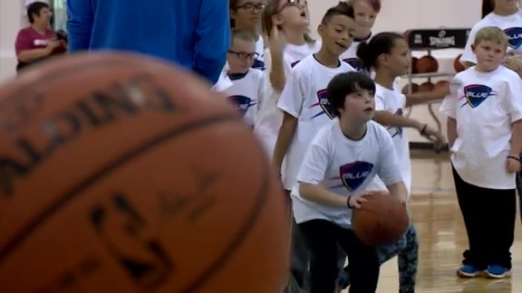 OKC Blue Hosts Hoops Clinic for Special Olympics