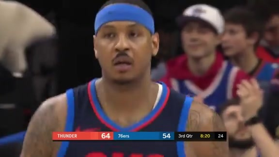 Highlights: Carmelo Anthony at Sixers