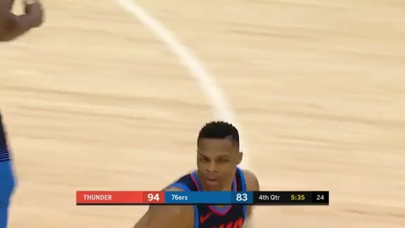 Highlights: Russell Westbrook at Sixers