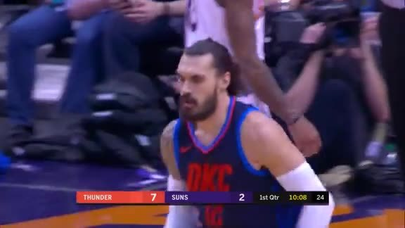 Steven Adams Highlights at Suns - 1/7/18