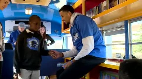 Andre Roberson Honors MLK Day With Book Bus