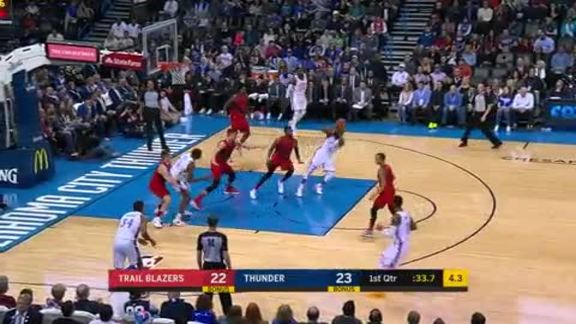 Highlights: Thunder vs. Trail Blazers - 1/9
