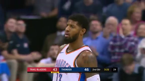 Paul George Highlights vs. Trail Blazers - 1/9/18