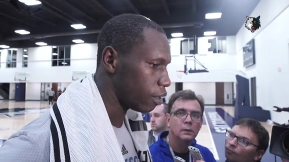 Practice Report - Oct. 1 | Gorgui Dieng