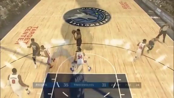 Towns Finds Gibson Underneath