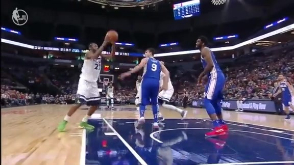 Wiggins Steals And Scores