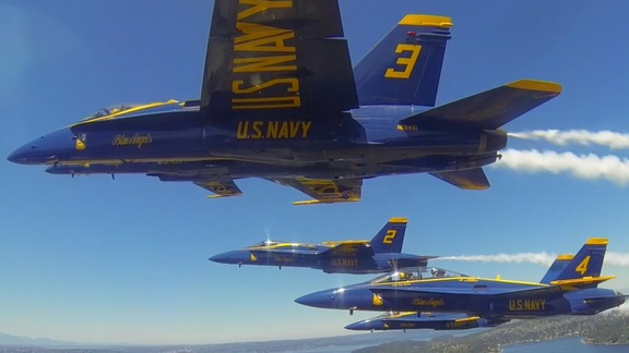 Blue Angels Visit Warriors