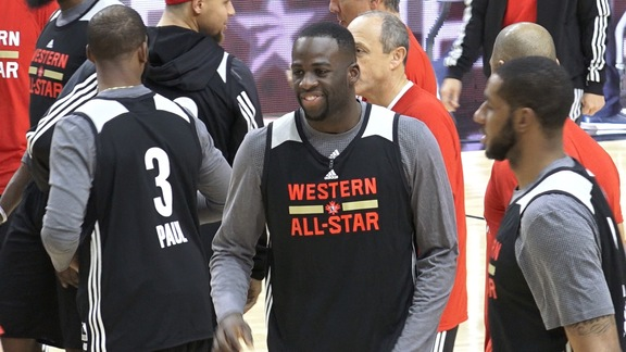 Warriors at All-Star Saturday Practice