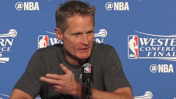 Warriors Pregame Talk: Steve Kerr 5.26.16