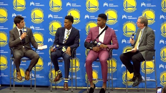 Full Event: Warriors introduce Jones & McCaw