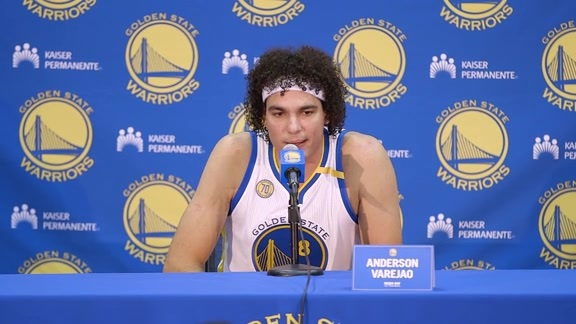 Warriors Media Day: Anderson Varejao