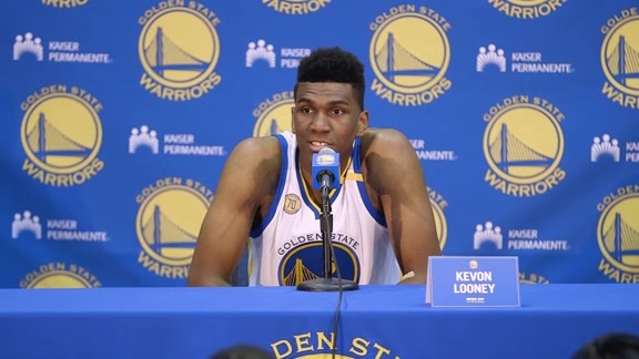 Warriors Media Day: Kevon Looney