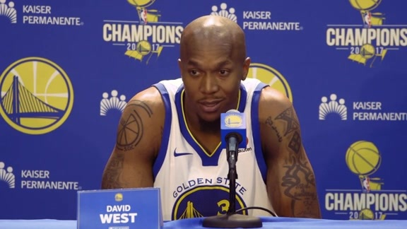Warriors Talk: David West at Media Day - 9/22/17