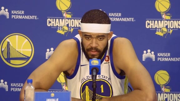 Warriors Talk: JaVale McGee at Media Day - 9/22/17