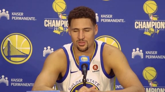 Warriors Talk: Klay Thompson at Media Day - 9/22/17