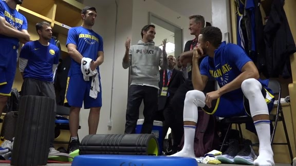 Warriors Meet with Roger Federer in Shanghai