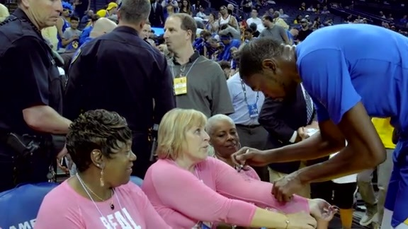 Welcoming Breast Cancer Survivors on Warriors Ground