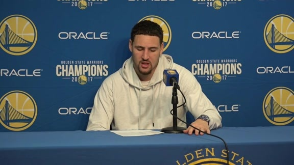 Postgame Warriors Talk: Klay Thompson - 12/11/2017