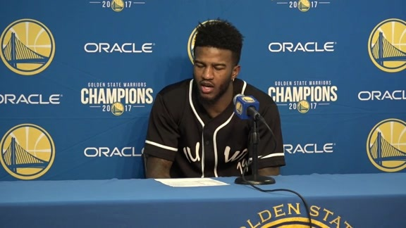Postgame Warriors Talk: Jordan Bell - 12/11/2017