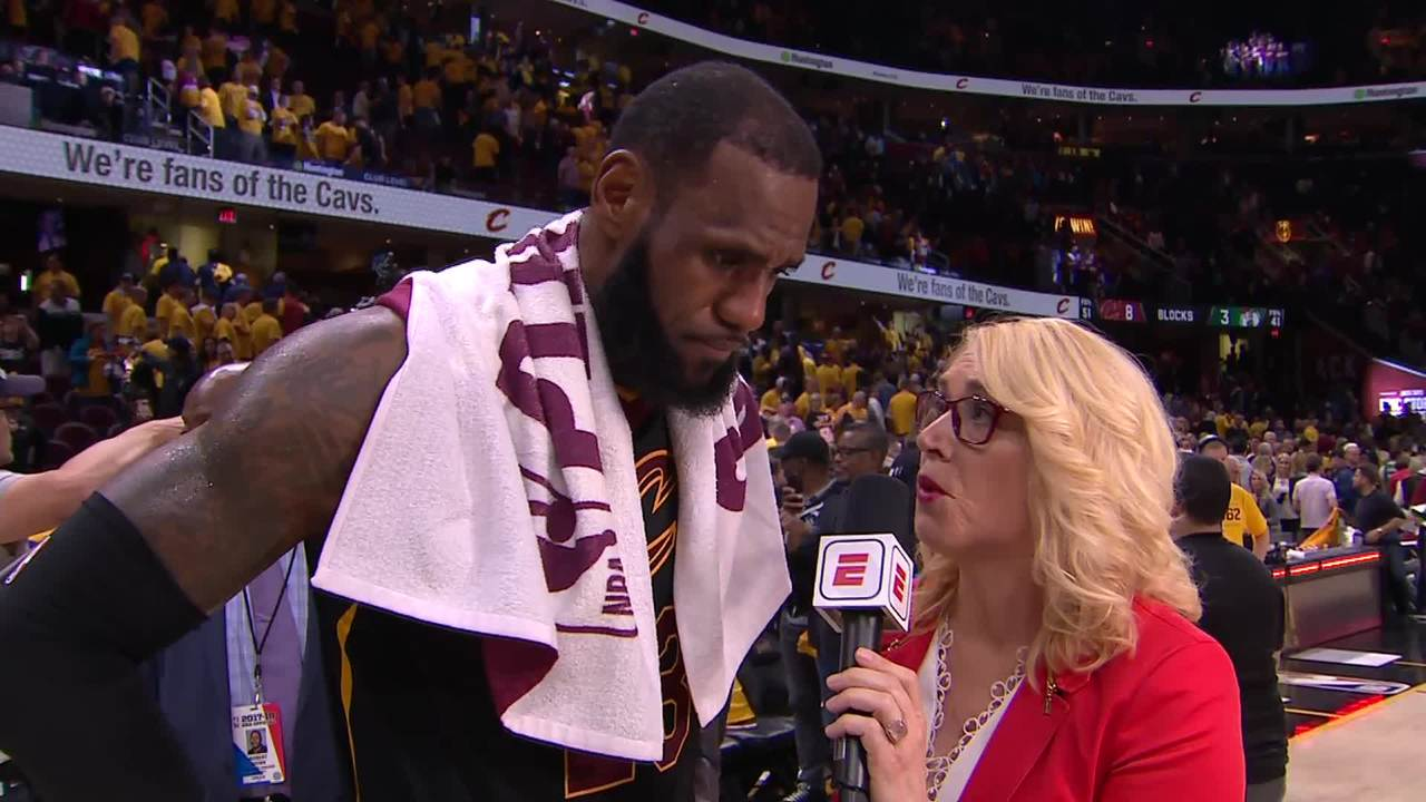 LeBron Talks with ESPN After Game 4