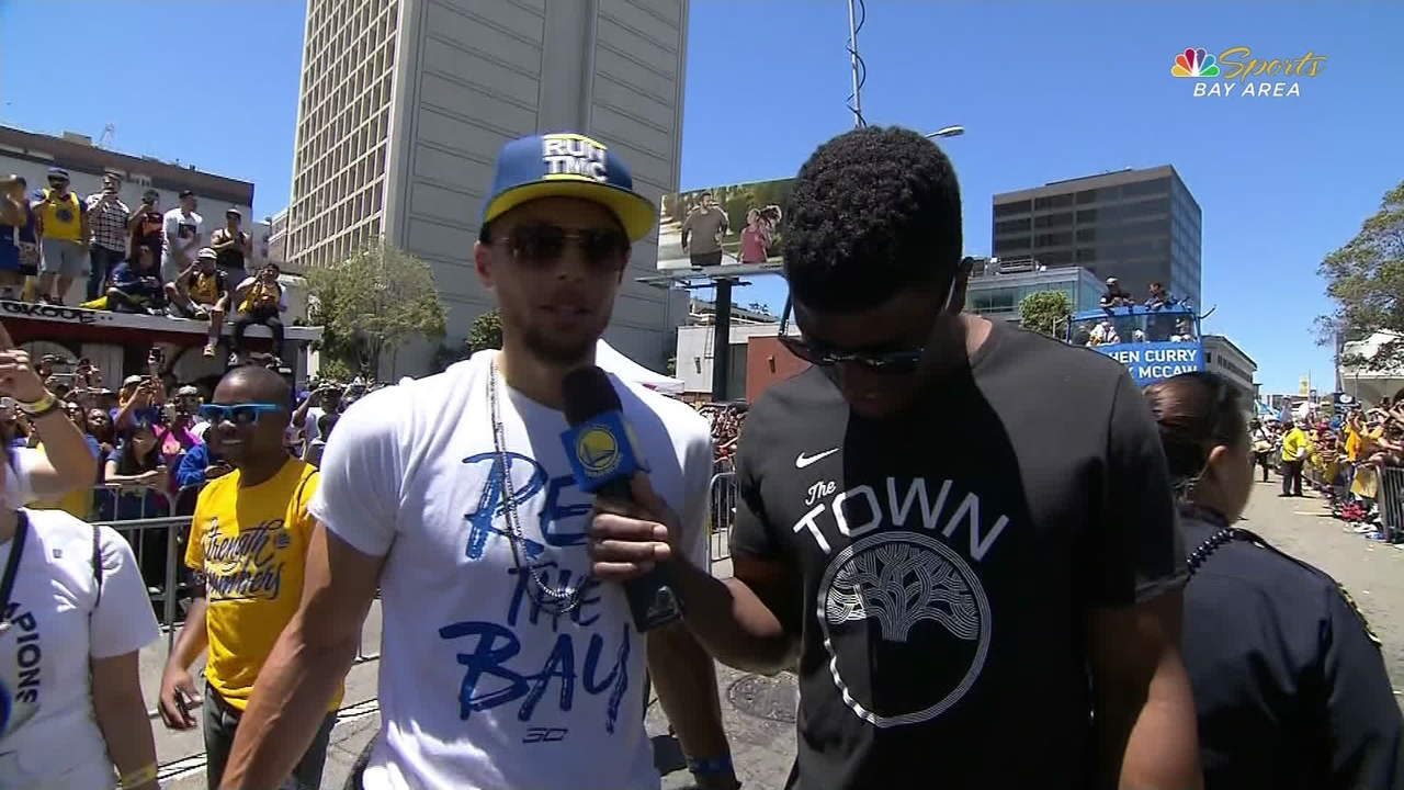 Warriors Parade: Stephen Curry