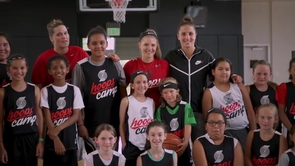 Trail Blazers Host First-Ever All Girls Hoops Camp