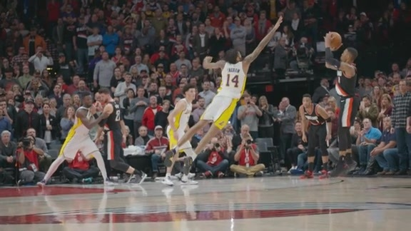 VIDEO » Dame's Game-Winner Vs. Lakers in SloMo