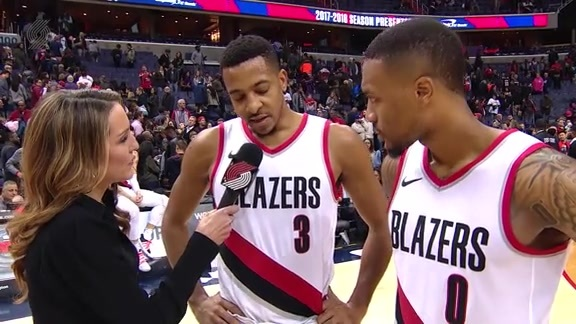 CJ and Dame Talk With Brooke After 17-Point Comeback In Washington
