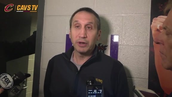 Shootaround: Coach Blatt- December 28, 2015