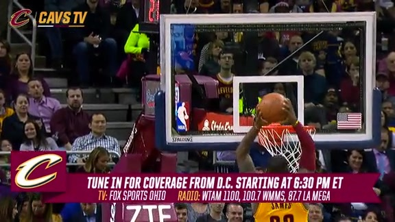 CavsTV Previews Wednesday's Matchup in D.C. – January 6, 2016