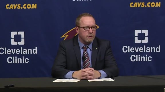 Cavs GM David Griffin Press Conference - January 22, 2016