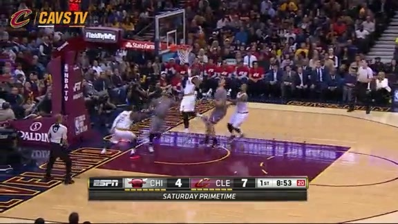 LBJ with the Chase Down Block - January 23, 2016