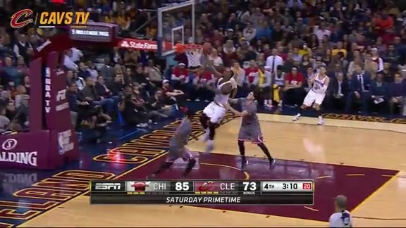 LeBron Finishes the And-One - January 23, 2016