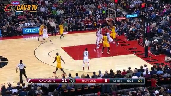 Tristan with the Putback Slam - February 26, 2016