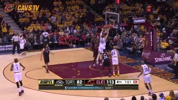 Mozgov with the Putback Slam - May 17, 2016