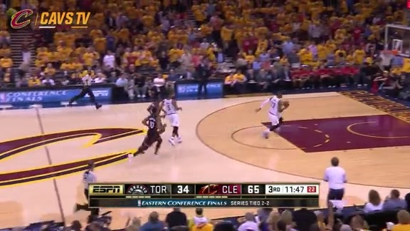 LeBron Steal and Slam - May 25, 2016