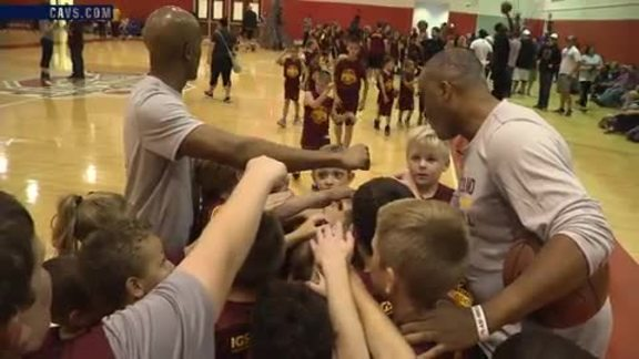 Cavs Host Clinic in Columbus