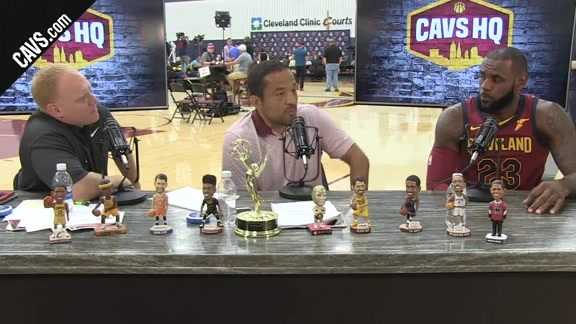 LeBron James Joins the CavsHQ Set