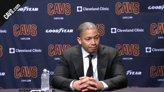 #CavsHawks Postgame: Coach Lue – October 4, 2017