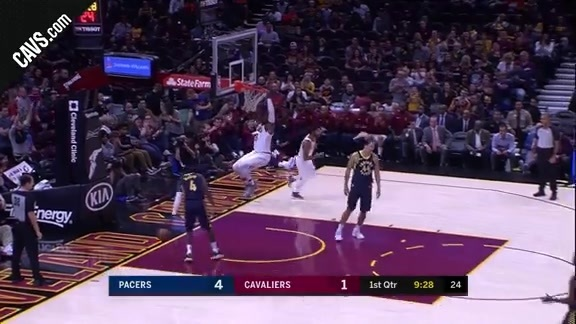 Wade with the Putback Slam - October 6, 2017